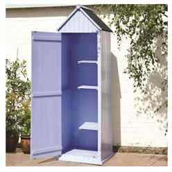 Blue Yarmouth Beach Style Apex Sentry Shed 2ft x 2ft
