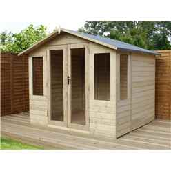 8 x 8 Pressure Treated Tongue And Groove Apex Summerhouse
