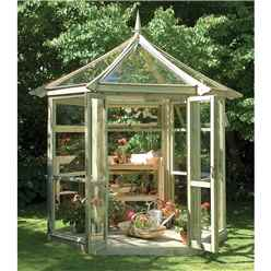 9 x 8 Felicity Glass Summer House - ASSEMBLED