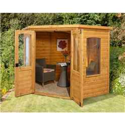 7 x 7 Harmony Corner Summerhouse - ASSEMBLED