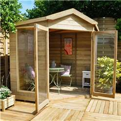 7 x 7 Rose Corner Summerhouse - ASSEMBLED
