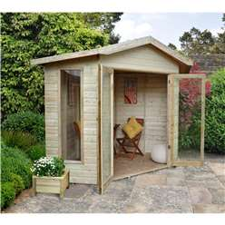 8 X 8 Sunflower Corner Summerhouse - Assembled