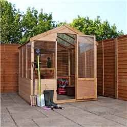8 x 6 - Wooden Value Greenhouse - 48HR + SAT Delivery*