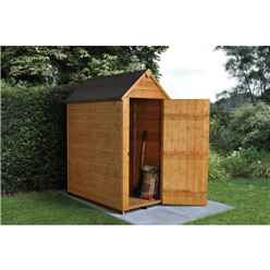 3 x 5 (0.9m x 1.6m) Windowless Overlap Apex Shed With Single Door