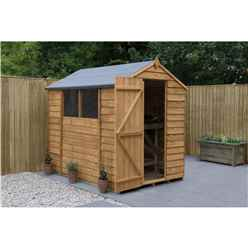 INSTALLED 5ft x 7ft (1.5m x 2.1m) Overlap Apex Shed With Single Door and 2 Windows