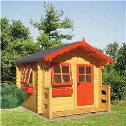 6 X 7 (1.69m X 1.79m) Salcey Playhouse (28mm Logs)