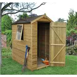 6 x 4 Tongue and Groove Pressure Treated Apex Shed