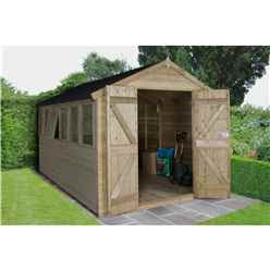 12ft x 8ft Pressure Treated Tongue And Groove Apex Shed (3.7m x 2.6m)