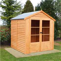 6 x 6 (1.76m x 1.83m) - Value Overlap Summerhouse - Double Doors - 11mm OSB Floor & Roof