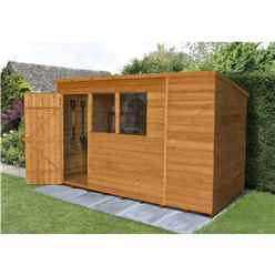 INSTALLED 10ft x 6ft Dip Treated Pent Overlap Shed (3.1m x 1.9m) - INCLUDES INSTALLATION
