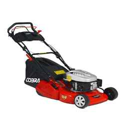 Electric Start Self Propelled Rear Roller Rotary Lawnmower - 46cm - Cobra RM46SPCE - Free Oil and Free Next Day Delivery*