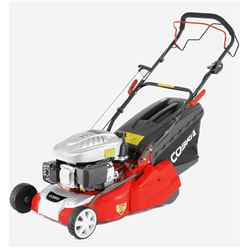 Electric Start Petrol Rear Roller Lawnmower - 40cm - Cobra Rm40spce - Free Next Day Delivery*