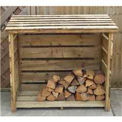 4ft X 2.8ft Pressure Treated Small Log Store (122cm X 88cm)