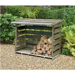 6ft X 2.8ft Pressure Treated Large Log Store (183cm X 88cm)