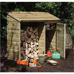 5.7ft x 2.2ft Pressure Treated Log And Tool Store (1.8m x 0.7m)