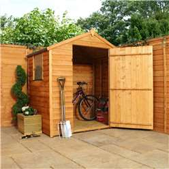 INSTALLED 3 x 6 Overlap Apex Shed With Single Door + 1 Window (10mm Solid OSB Floor) - INCLUDES INSTALLATION