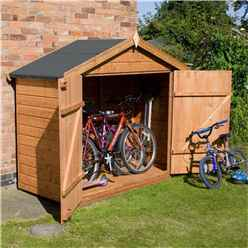 INSTALLED 7 x 3 Premier Tongue and Groove Bike Store (10mm Solid OSB Floor) - INCLUDES INSTALLATION
