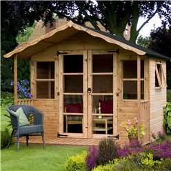 INSTALLED 8 x 8 Wessex Summerhouse (12mm Tongue and Groove Floor and Roof) - INCLUDES INSTALLATION