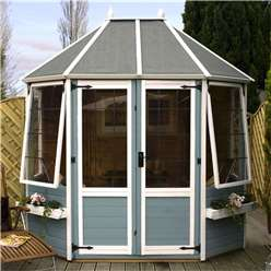 INSTALLED 8 x 6 Avon Octagonal Summerhouse (12mm Tongue and Groove Floor) - INCLUDES INSTALLATION