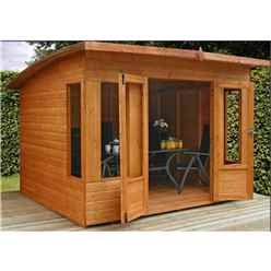 INSTALLED 8 x 8 Helios Summerhouse (12mm Tongue and Groove Floor and Roof) - INCLUDES INSTALLATION