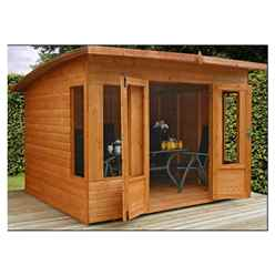 INSTALLED 10 x 8 Helios Summerhouse (12mm Tongue and Groove Floor and Roof) - INCLUDES INSTALLATION