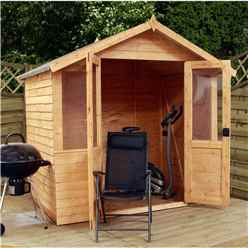 INSTALLED 7 x 5 Traditional Overlap Summerhouse (10mm Solid OSB Floor) - INCLUDES INSTALLATION