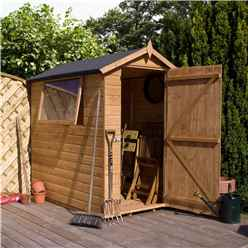 INSTALLED 7 x 5 Premier Tongue and Groove Apex Shed With Single Door + 1 Window (12mm Tongue and Groove Floor and Roof) - INCLUDES INSTALLATION