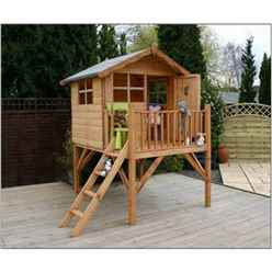 INSTALLED 5 x 7 Wooden Tower Playhouse - INCLUDES INSTALLATION