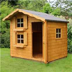 INSTALLED 7 x 5 Wooden Cottage Playhouse - Double Storey - INCLUDES INSTALLATION