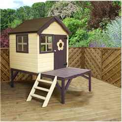 INSTALLED 4 x 4 Wooden Tower Playhouse - INCLUDES INSTALLATION