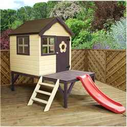 INSTALLED Playhouse 4ft x 4ft With Tower and Slide - INCLUDES INSTALLATION