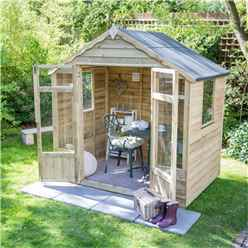 8 X 6 Oakley Pressure Treated Overlap Summerhouse - Assembled (258cm X 193cm) (core)