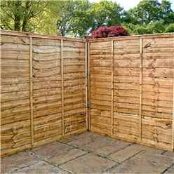 6FT Lap Panel Overlap Fencing Panels - 1 Panel (Min Order 3 Panels) + Free Delivery