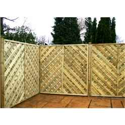 6FT Pressure Treated Chevron Weave Trellis Panels - 1 Panel Only + Free Delivery*
