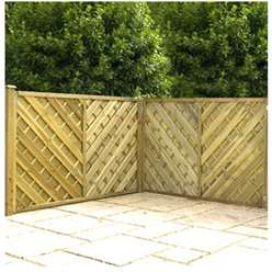 4FT Pressure Treated Chevron Weave Fencing Panels - 1 Panel Only + Free Delivery*