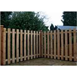 4FT Palisade Square Top Fencing Panels - 1 Panel Only + Free Delivery*