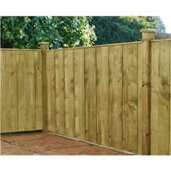 6FT Pressure Treated Vertical Hit & Miss Panels - 1 Panel Only (Min Order 3 Panels) + Free Delivery*