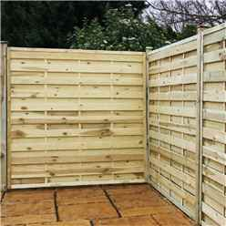 4FT Pressure Treated Horizontal Weave Fencing Panels - 1 Panel Only + Free Delivery*
