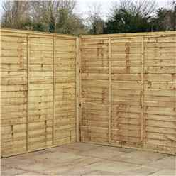 6FT Pressure Treated  Waney Edge Overlap Fencing Panels -1 Panel Only (Min Order 3 Panels) + Free Delivery*