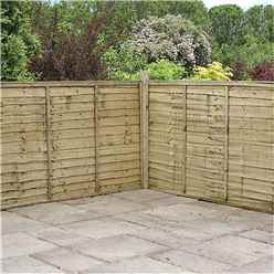 5FT Pressure Treated  Waney Edge Overlap Fencing Panels -1 Panel Only (Min Order 3 Panels) + Free Delivery*