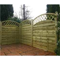 4FT Pressure Treated Convex Horizontal Weave + Trellis - 1 Panel Only (Min Order 3 Panels) + Free Delivery*