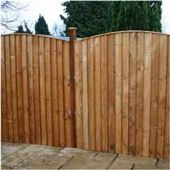 6FT Vertical Feather Edge Fencing (Curved) - 1 Panel Only (Min Order 3 Panels) + Free Delivery*