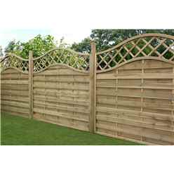 5FT Pressure Treated Wavey Horizontal Weave Fencing Panels - 1 Panel Only + Free Delivery*