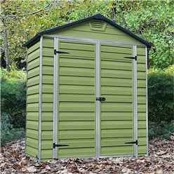 **OUT OF STOCK DUE IN END OF AUGUST** 3 x 6 Plastic Apex Shed (1..02m x 1.85m)