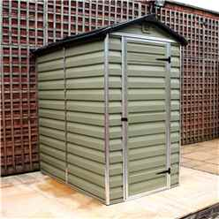 INSTALLED 6 x 4 Plastic Apex Shed (1.86m x 1.25m) INCLUDES INSTALLATION