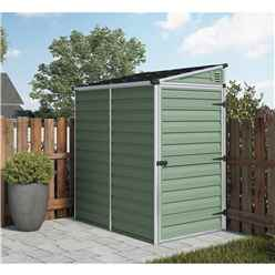 INSTALLED 6 x 4 Plastic Pent Shed (1.8m x 1.2m) *INCLUDES INSTALLATION*