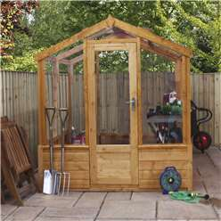 6 x 4 Deluxe Glass Tongue and Groove Greenhouse (No Floor)