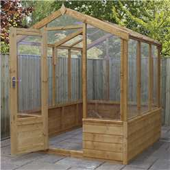 *NEW PRODUCT DUE MID MAY*INSTALLED 6 x 8 Deluxe Glazed Tongue and Groove Greenhouse (No Floor) INCLUDES INSTALLATION