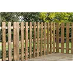 3FT Pressure Treated Palisade Round Top Fencing Panel - 1 Panel Only + Free Delivery*