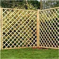 6FT Pressure Treated Diamond Trellis Fencing Panels - 1 Panel Only (Min Order 3 Panels) + Free Delivery*